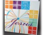 JESUS Christmas card - 5 cards / 6 envelopes