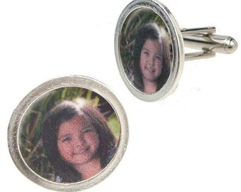 Custom image cufflinks for Father's Day of the little one's in his life