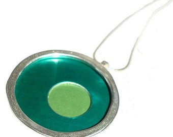 Large Two tone Green/Lime pendant