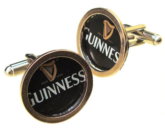 Valentine's Day Gift GUINNESS Sterling Silver and brass cuff links