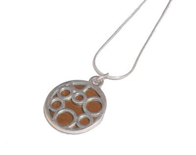 Small Round Brown Bubble pendant