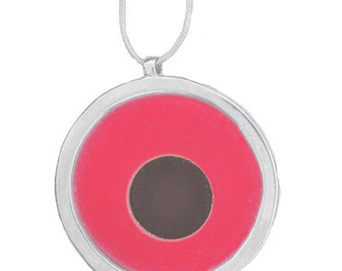 Large Two tone Red/Black pendant