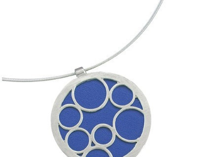 Large Round Blue Bubble Pendant