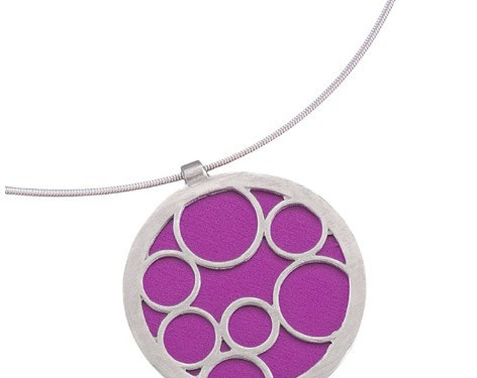 Large Round Fuchsia Bubble Pendant