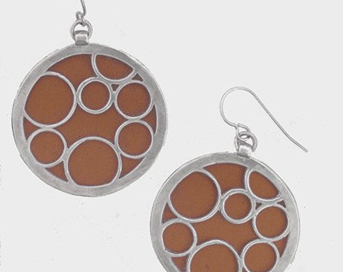 large brown round bubble earrings