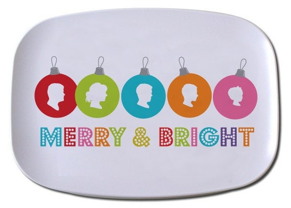 Custom Christmas Silhouette Tray made from your photo by Simply Silhouettes