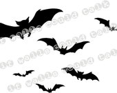 Halloween BATS vinyl decals / stickers FREE SHIPPING
