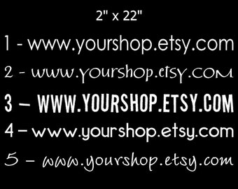 Your Etsy Shop - Custom Vinyl Decals for car window
