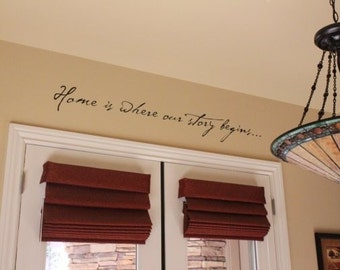 Home is where our story begins Vinyl Wall Words Decal