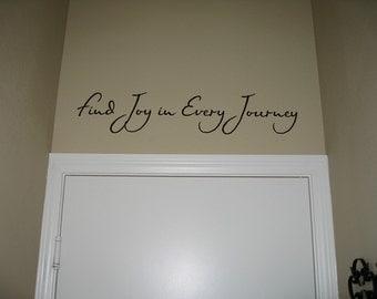 Find Joy Vinyl Wall Art / Decal