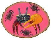 Under the Sea crab print 11x14