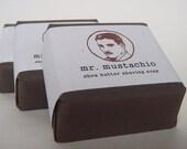 French Clay Shea Butter Shaving Soap - MR. MUSTACHIO - 2oz. bar