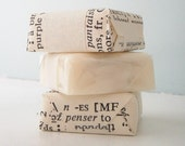 Shea Butter Soap Bars - Flat Rate Shipping - SET OF 6 - pick your scent