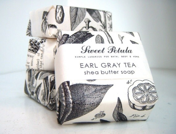 Earl Grey Tea Shea Butter Soap by Sweet by FormularyFiftyFive