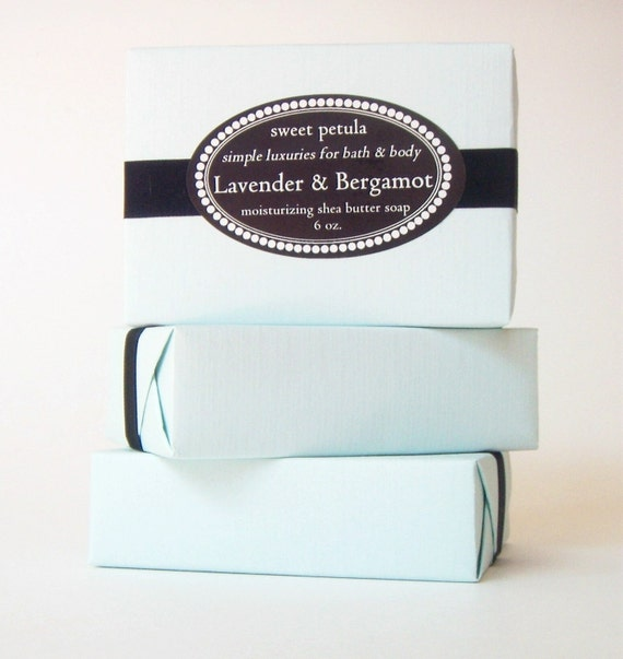 Lavender and Bergamot Shea Butter Soap - by Sweet Petula - our most delicate soap