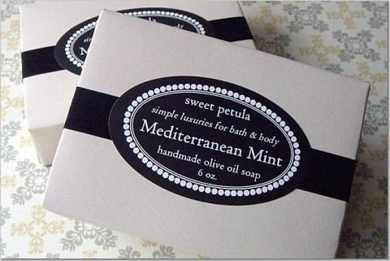 Olive Oil Soap - Mediterranean Mint....pure essential oil fragranced cold process bar