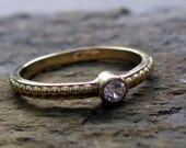 Reserved for Rich - Despite the occasional bumps in the road engagement ring - 14k gold with white topaz, made to order