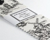 Fabric Toile Bookmark Black