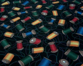 """Clearance/44"""" in width Colorful Sewing Spools Fabric"""
