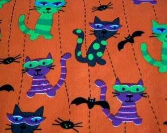 "Sale/ Kawaii Halloween Cats Fabric (58""/147cm)"