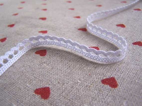 Reserved for Alanna- 5mm Teeny Crochet Lace Z--White(5mm)