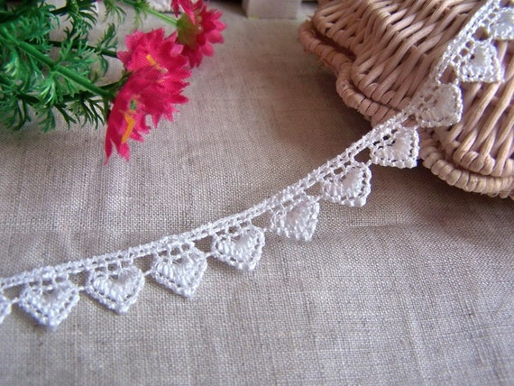 2Y Embroidery Heart Lace H(13mm)