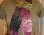 Adorable multicolor skinny scarf dressy and fabulous