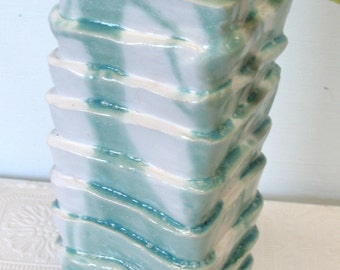 Exotic Hand Built square vase
