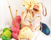 On The Town Knitting Bag, Cotton - Classic Cowgirl