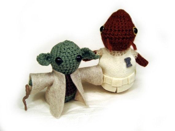 Amigurumi Clothes Pattern : Ackbar and Yoda Amigurumi and Clothes Pattern