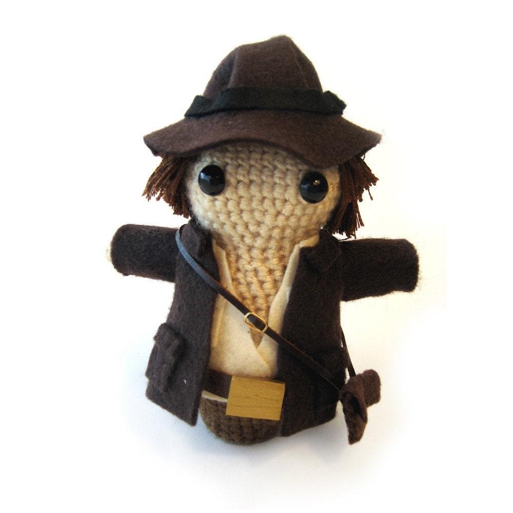 Amigurumi Jacket : Indiana Jones Amigurumi by GeekCentralStation on Etsy