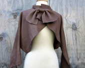 Leather Jacket Coatee Made in Taupe Elkskin By Stacy Leigh Size Small to Medium Ready to Ship OOAK - stacyleigh