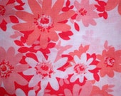 Vintage 60s\/70s Queen Flat Top Floral Bed Sheet