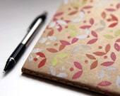 pretty petals, block printed moleskine cahiers journal, limited edition (large) LAST ONE