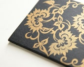 SALE screenprinted moleskine cahiers journal, golden blooms (discontinued) Set of 2 Wholesale