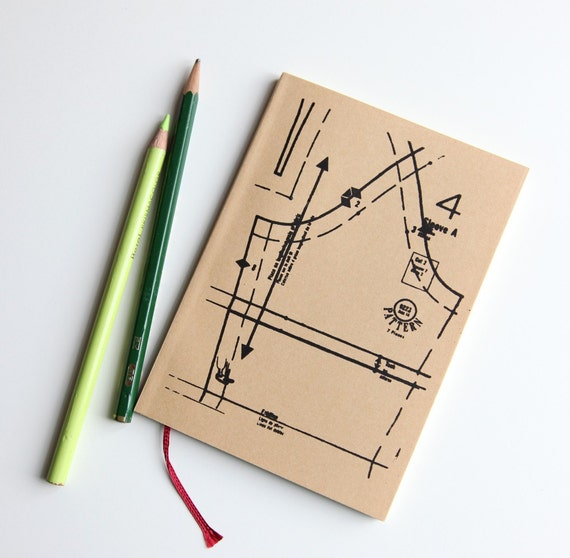 SALE screenprinted sketchbook/notebook journal, sewing lesson (LAST ONE- discontinued)