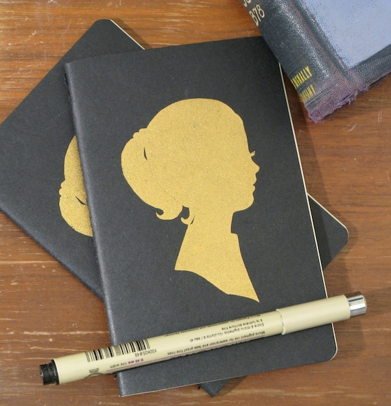 golden girl, moleskine cahiers notebook (blank pages)