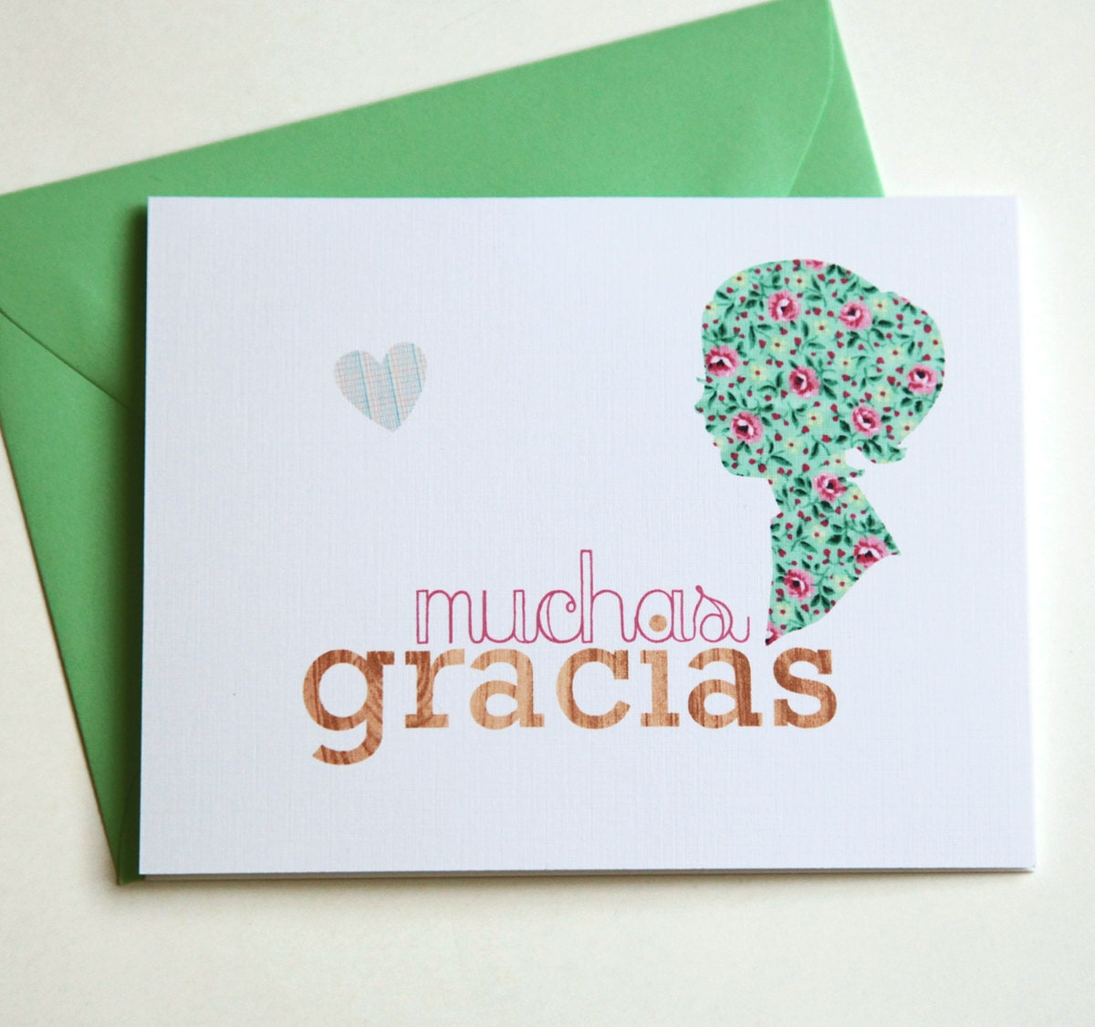 handmade thank you cards in spanish muchas gracias set of 4