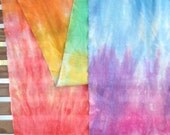 "90"" cotton quilt backing, rainbow dyed muslim By The Yard"