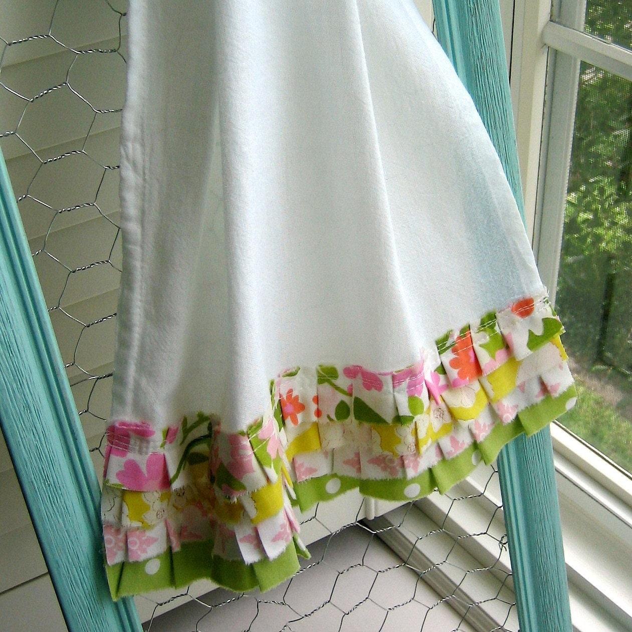 Dish Towel In: Flour Sack Dish Towel Ruffle Kitchen Towel Tea Towel Dish