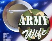 Army Wife Pinback Button