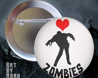 Love Zombies - Pinback Button
