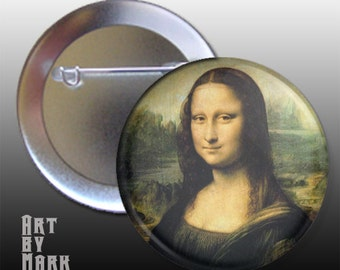 Da Vinci's Mona Lisa Pinback Button