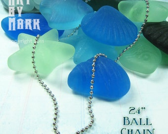 24 inch Ball Chain 2.5mm for use with our pendants