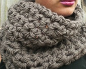 Chunky Taupe Cowl Scarf Neck warmer