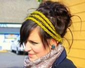 Chunky Crochet 3 Strand Headband in Moss