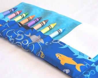 Crayon Wallet - Sharks READY TO SHIP