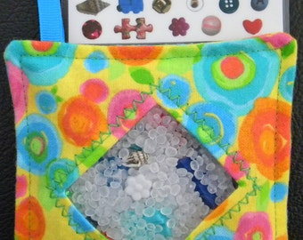 I Spy Bag - Mini with Sewn Word List and Detachable Picture List- Bold Blossoms