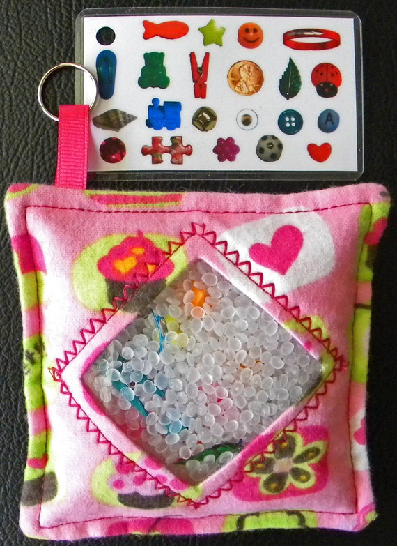 I Spy Bag - Mini with Sewn Word List and Detachable Picture/Word List- Yummy Cupcakes