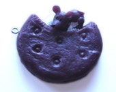 Mouse Eating a Cookie Charm (Chocolate)